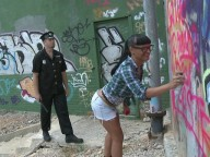 Vidéo porno mobile : Sexy deliquent fucked by a rutting cop